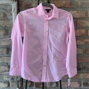 Tommy Hilfiger boys new pink button up top plaid